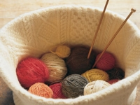 Martha Stewart Sweater Knitting Basket