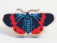 Maxs World Knitted Moth Brooch