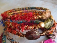 Missficklemedia Fabric and Wire Bracelets