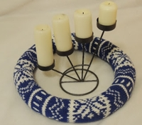 Mlin nakitin Knitted Advent Wreath