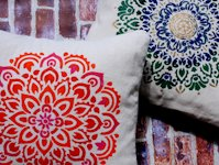 My French Twist Mandala Stencilled Pillows