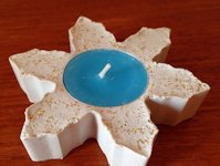 My Kid Craft Cookie Cutter Plaster Candle Holder