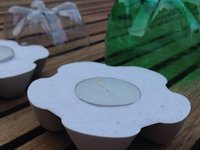My Kid Craft Flower Tealight Holder from Plaster