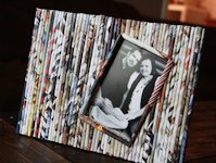 My Pretties Recycled Magazine Picture Frame