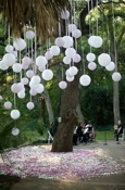 My big fat wedding kitsch Balloon Tree