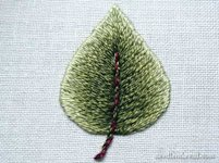 NeedlenThread Embroidered Leaf