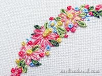 NeedlenThread Flower and Leaves Embroidery