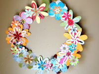 NoBiggie Paper Flower Wreath
