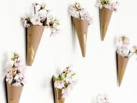 Oh So Very Pretty Flower Cone Wall Art