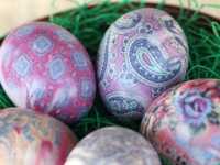 Our Best Bites Silk-Tie-Dyed Easter Eggs