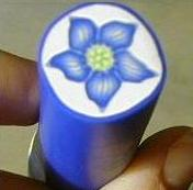 PCPolyzine Balloon Flower Polymer Clay Cane