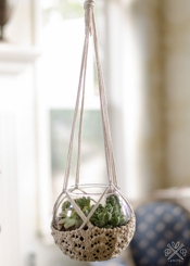 Pam Powers Knits Knitted Hanging Planter