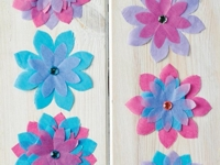 PaperCrafter Tissue Flower Wall Decoration