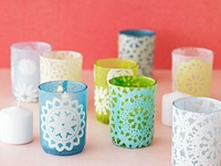 Parents Votives with Lace