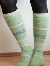 Pearls and Scissors Socks from Sweater Sleeves