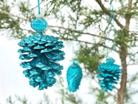 Pet Scribbles Pinecone Ornament with Bead