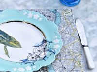 Pillar Box Blue Map Place Mats