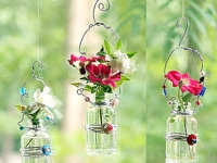 Pretty Handy Girl Hanging Vases with Beads