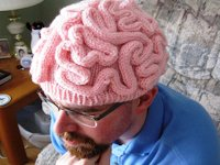Purls Patterns Knitted Brain Hat