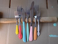 Rachael Muller Colourful Mismatched Cutlery