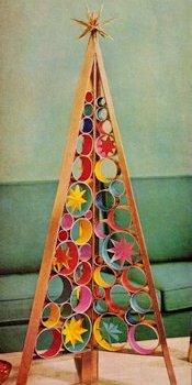 Retro Realty Cardboard Christmas Tree with Circles