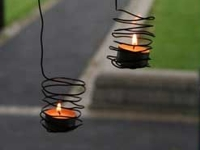 Room and Serve Wire Tealight Holders