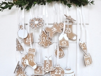 SDblog Cardboard Gingerbread Advent Calendar