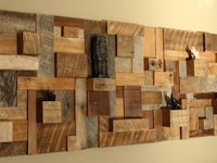 Scrap Wood Art Shelf