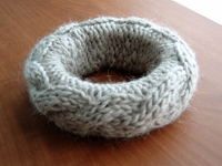 See Me Knit Swatch Bangle