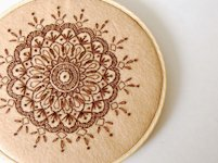 SewSweetStitches Embroidered Mandala