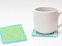 SheKnows Graphic Yarn Coasters