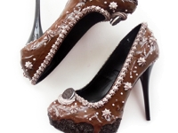 Shoe Bakery Chocolate High Heels