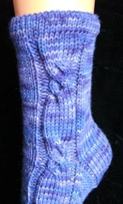 Sonjas Sockenland Cable Sock