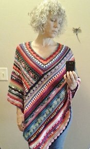 Staceys Daze Colourful Crochet Poncho