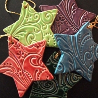 pinterest salt dough ornaments made with rubber stamp texture