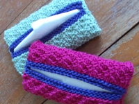 StitchGeek Knitted Pocket Tissue Pouch