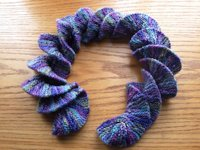 StitchPieceNPurl Knitted Screw Scarf