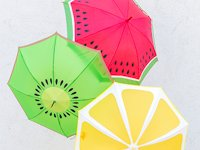 Studio DIY Fruit Slice Umbrellas