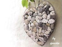 Stylowi_pl qwerta Chicken Wire and Stones Heart