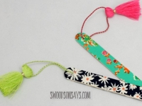 Swoodson Says No Sew Fabric Bookmark