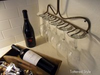 Tattered Style Rake Wineglass Holder