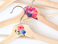 The Crafted Life Embellished Wooden Hangers