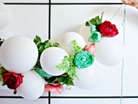 The Family Home Blog Flower Balloon Garland
