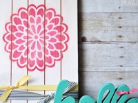 The Happy Scraps Dahlia Decor