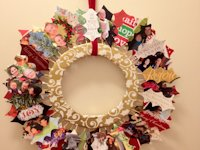 The Purple Martin Christmas Card Wreath