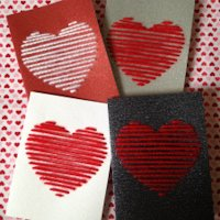 The Reveler Embroidered Heart Greeting Card