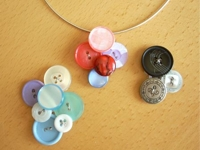 Think Crafts Button Pendant