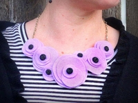 Think Crafts CreateForLess Felt and Button Necklace