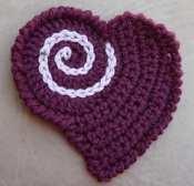 Twisted Strands Crocheted Heart