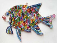 Wire and Beads Fish Ornament
